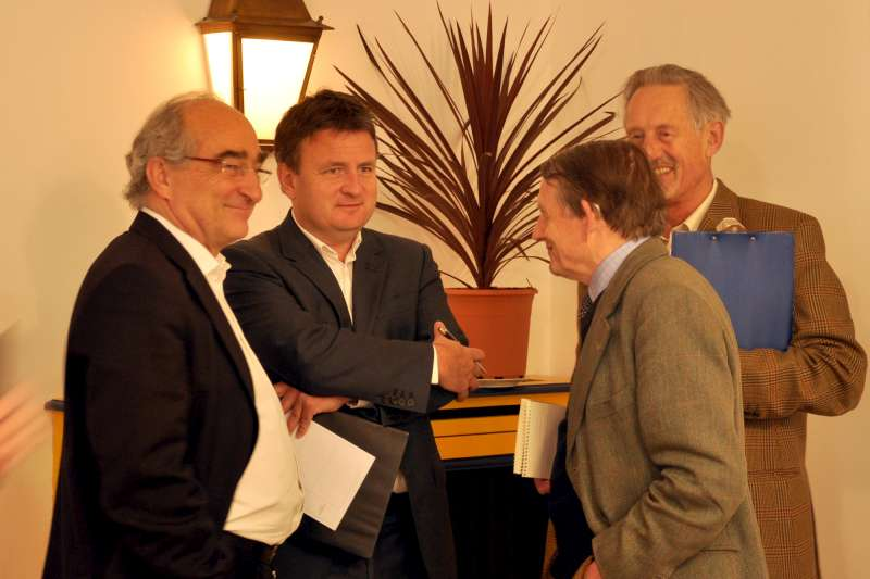 Charles Chevallier and friends at Lafite