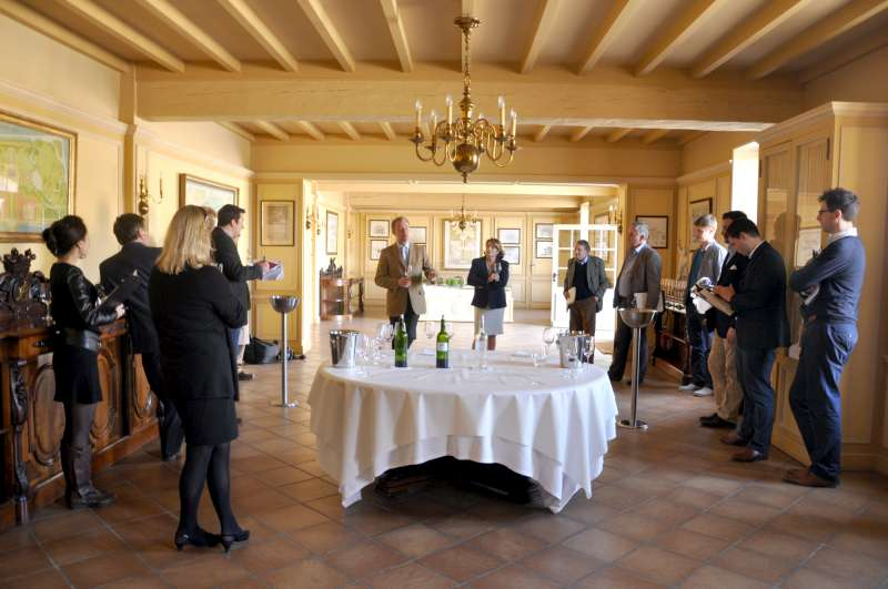 Paul Pontallier and Corinne Mentzelopoulos at Chateau Margaux
