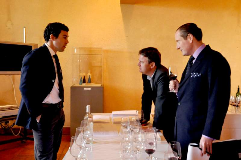 Stephen and Tom at Lynch Bages with Jean-Charles Cazes