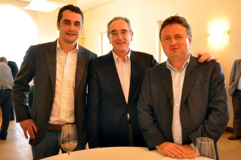 Stephen with Olivier and Jean-Claude Berrouet at Petrus