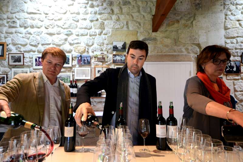 The Lynch Bages team pour their excellent 2012s