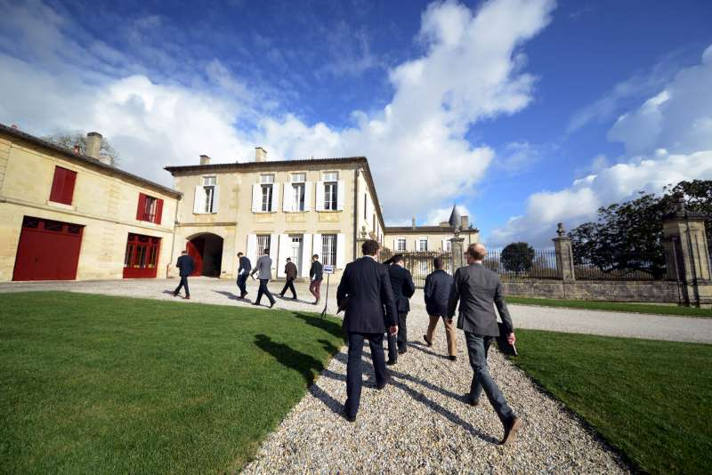 Arriving at Lafite