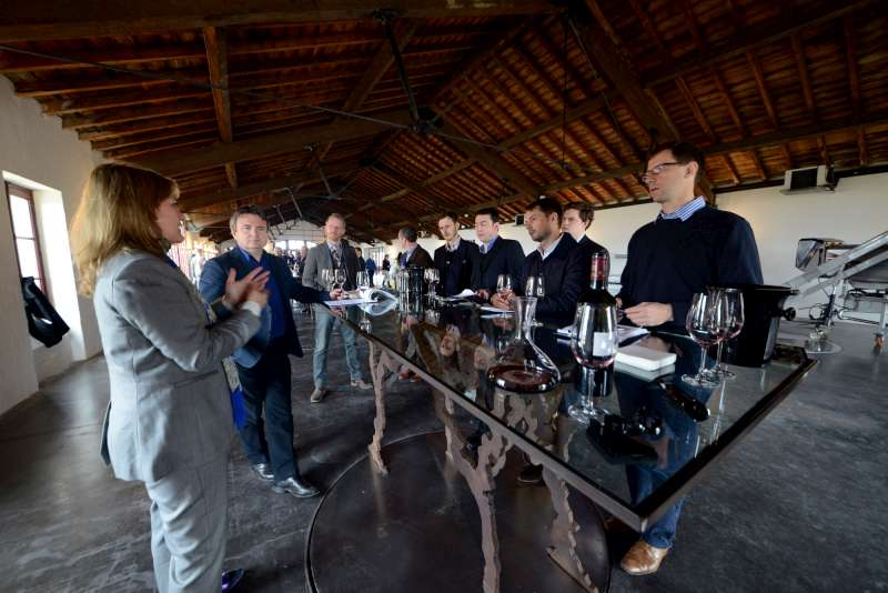 The team hear the Pontet Canet view of the vintage from Melanie Tesseron