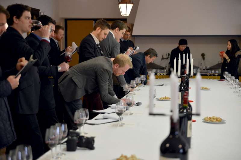 The team tasting at Lafite