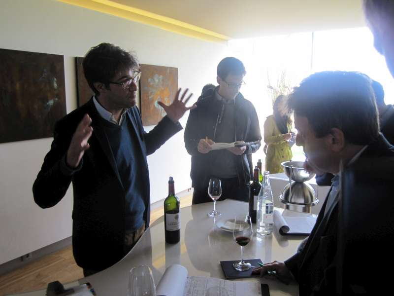 Pierre-Olivier Clouet discusses Cheval Blanc's 2014 wines with Stephen Browett