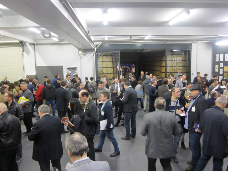Stephen Browett makes his way through the busy Margaux UGC tasting