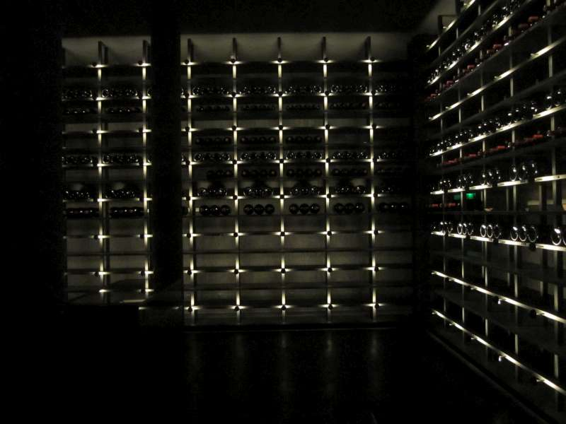 The new wine library at Chateau Latour