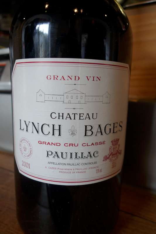 A double magunum of Lynch Bages 2001. Absolutely delicious.