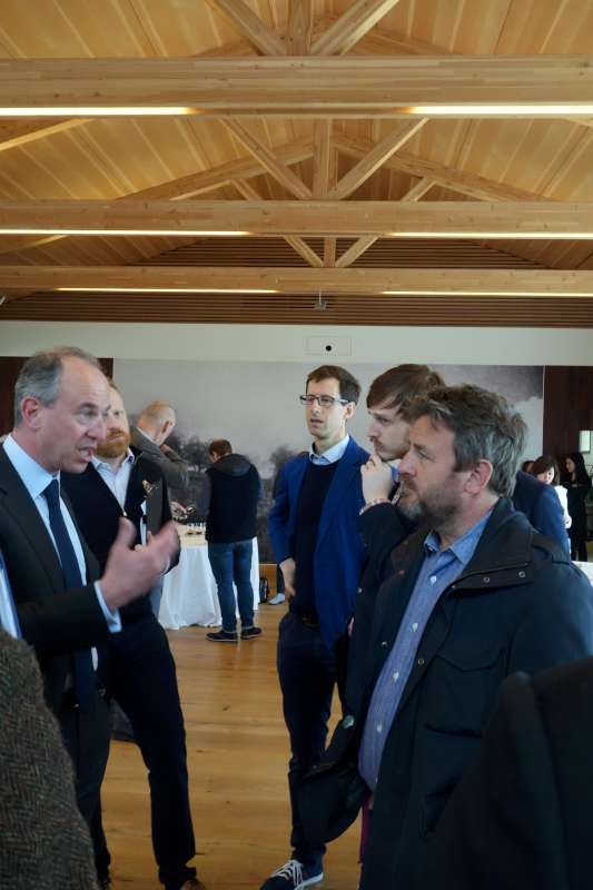 Listening intently to Jean-Guillaume Prats, the new head of Chateau Lafite