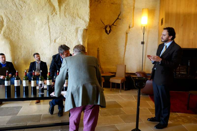 Stephen Browett & Derek Smedley discussing the vintage with Edouard Moueix
