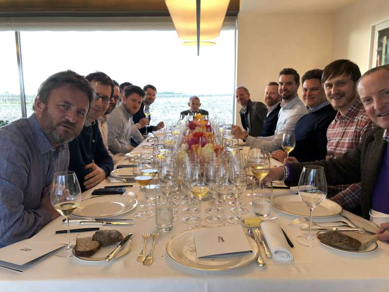 The Farr Vintners team at Chateau Latour